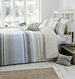 Dreams & Drapes - Falmouth - Easy Care Duvet Cover Set - King, Blue