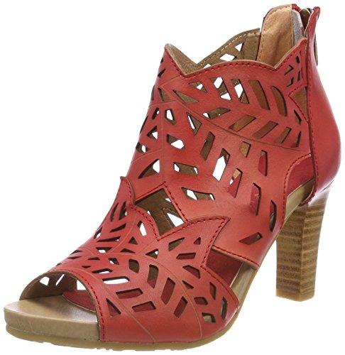 Sandalias Abiertas para Mujer Laura Vita, 048, Color Rojo, Talla 39 EU
