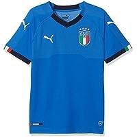 Puma FIGC Italia Kids Home Shirt Replica SS Camiseta, Niños Power/Azul Oscuro, 152