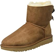 Ugg Damen Mini Bailey Bow Schlupfstiefel, Braun (Chestnut), 39 EU