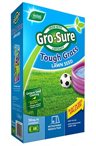 Gro-Sure Tough and Hardwearing Grass Lawn Seed, 50 m2, 1.5 kg