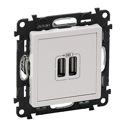 Legrand Dual USB Anschlüsse Steckdose Ladegerät Elektrische Platte Steckdose Weiß