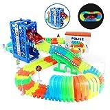 Nuheby Circuit Voiture Enfant Circuit Flexible Lumineux 1 Voiture Flexible Track avec...