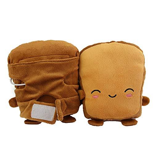 gants chauffants sans doigts chauffants USB,1 paire de gants chauffe-mains grillés pour le chauffage moitié portable sans doigts (B)