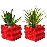 Un tocco di stile moderno è proprio ciò di cui hai bisogno per trasformare il proprio spazio in fab a scuro ed è proprio ciò che si possa ottenere quando compi set di 2 Vasi per yours piante decorative! realizzato in materiali ceramici, i vas...