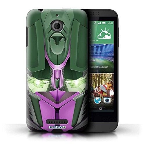 Kobalt® Imprimé Etui / Coque pour HTC Desire 510 / Opta-Bot Jaune conception / Série Robots Opta-Bot Rose