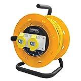 Faithfull Power Plus - CR50ML Kabeltrommel Open Frame 50 Meter 16A (110 Volt) - FPPCR50ML