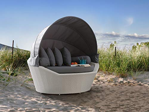 Beliani Sonneninsel Rattan weiß - 3