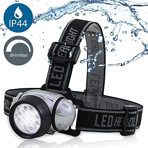 LED Outdoor Sports Head Light inkl. 4W LED Platine | Batterie betrieben | 38lm | IP44 | 3x AAA Batteriefach | regulierbare Stirnleuchte | Kopfleuchte