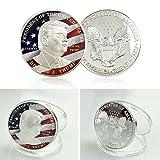 Hanbaili Moneda conmemorativa, Donald Trump Moneda de la bandera de Eagle de plata América Gran arte de la colección de 45o Presidente