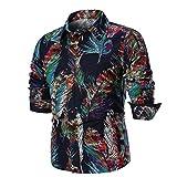 Innerternet Herren Hemd Slim-Fit Langarm Herren Hemden Mode Druck Bluse Freizeithemd Freizeit Hochzeit Arbeit Business Super Qualität