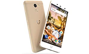"Wileyfox Swift 2 Plus 32GB with 3GB RAM 5.0"" HD (Dual SIM 4G) SIM-Free Smartphone Android Oreo 8.1 - Gold"