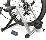 HEALTHLINE Magnetic 5 Varies Resistances Turbo Trainer Stand for Indoor Bicycle Bike, 26 - 27 inches (Silver)