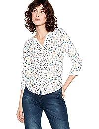 8b23282b3da Mantaray Womens Off White Floral Print Pure Cotton Shirt