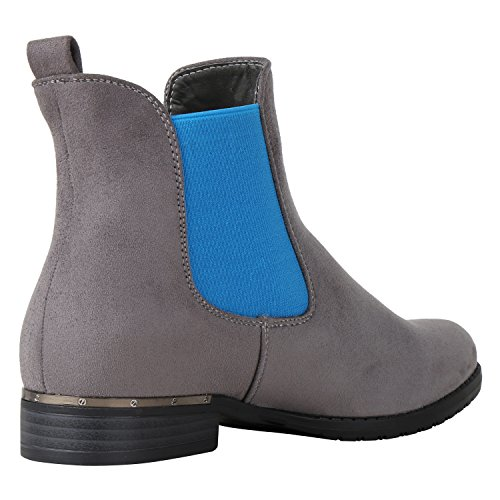 Optik 36 Boots Blau Leder fashion Flache Jennika Damen Grau 41 Gr napoli Stiefeletten Schuhe Chelsea nwxRCqg0g