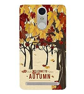 Fiobs Designer Back Case Cover for Lenovo K5 Note :: Lenovo Vibe K5 Note Pro (Tree Art Theme Autumn )