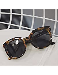 LXKMTYJ Sonnenbrillen Sonnenbrillen Mit Großem Rahmen Tide Dünne Gläser, Schwarz