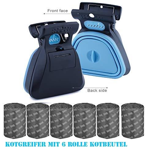 Towinle Pooper Scooper - Pala para excrementos portátil para Perros (Plegable, con 6 Rollos)