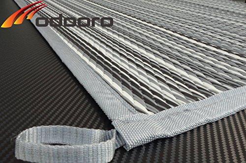 Zeltteppich /´/´/´odooro DURATEX 2,5m x 3m anthrazit-grau *** 500 g//m/² Outdoor Teppich Vorzelt Teppich Garten Spieldecke