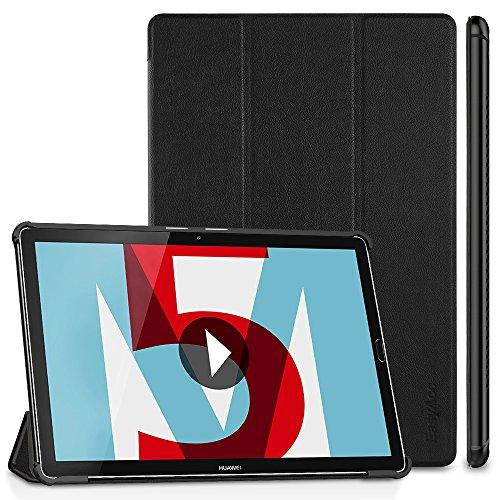 EasyAcc Hülle für Huawei Mediapad M5 10.8/10.8 Pro, Ultra Schlank Schutzhülle Case mit Auto Sleep/Wake Up Funktion und Zwei Einstellbarem Standfunktion für Huawei Mediapad M5 10.8 Zoll 2018, Schwarz