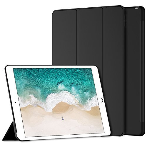 JETech Hülle für Apple iPad Pro 10,5, Schutzhülle mit Ständer Funktion und Auto Schlaf/Wachen, Schwarz