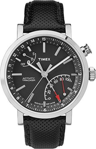 Timex IQ + Move Metro Metropolitan + Montres Bracelet Hommes, Black, Brushed Steel, Grey