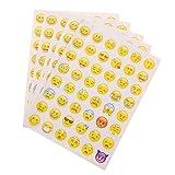 YNuth 5 Hojas de Pegatina Emoticono Adhesivas Etiquetas Engomadas Emoji para Decoración de Teléfono Móvil Ordenador Portátil