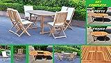 Questo set in legno di acacia, pieno di stile e modello contemporaneo, include un tavolo ovale ALLUNGABILE , 6 sedie pieghevoli senza braccioli e 6 cuscini. Aggiungerà un tocco di eleganza a qualsiasi cena. I nostri mobili da giardino in legn...