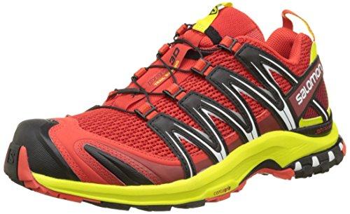 Salomon Xa Pro 3d, Zapatillas de Running para Asfalto para Hombre, Multicolor (Fiery Red/Sulphur Spring/Black), 44 EU