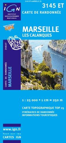 Book's Cover of Top25 3145ET  Marseille Les Calanques carte de randonnée avec une règle graduée gratuite