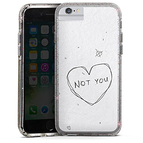 Apple iPhone 7 Plus Bumper Hülle Bumper Case Glitzer Hülle Sprüche Phrases Sayings Bumper Case Glitzer rose gold