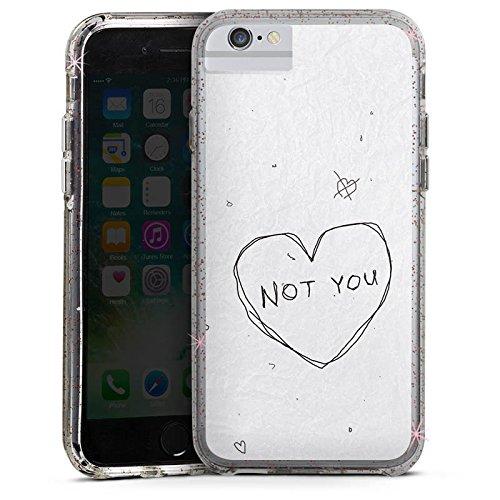 Apple iPhone 7 Plus Bumper Hülle Bumper Case Glitzer Hülle Sprüche Phrases Sayings Bumper Case Glitzer rose gold