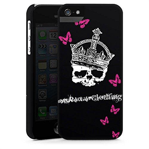 Apple iPhone X Silikon Hülle Case Schutzhülle Totenkopf Skull Krone Premium Case StandUp