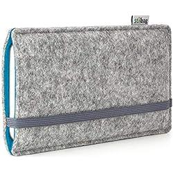 stilbag Funda de Fieltro 'Finn' para Sony Xperia Z5 Compact - Color: Gris/Azur