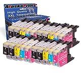 20x Druckerpatronen Kompatibel für Brother MFC-J5910DW MFC-J6510DW MFC-J6710DW MFC-J6910DW MFC-J280W MFC-J425W MFC-J430W MFC-J435W MFC-J625DW MFC-J825DW MFC-J835DW DCP-J525W DCP-J725DW DCP-J925DW Tintenpatrone Brother LC-1220 LC-1220XL LC1220XL LC1220 XL