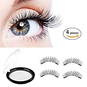 False Eyelashes,ONSON Magnetic Eyelashes 3D Ladies Eyelashes Natural Look No Glue Needed,Multipack [4 pieces]