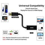 Displayport to HDMI Adapter, Benfei Dp(Display Port) Male to Hdmi Female Converter with Audio for Lenovo, Dell, HP, Asus and other brand(Dp to Hdmi)