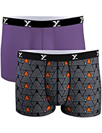 [Sponsored]XY XX Men's Multi Color Micro Modal Trunk (Pack Of 2)