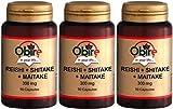 OBIRE - REISHI + SHITAKE + MAITAKE 90 CAPSULAS. (Pack 3u.)