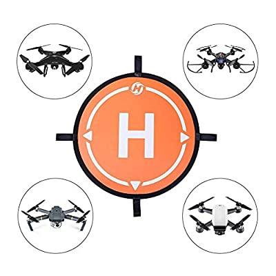 """Holy Stone Drone Landing Pad 21.65""""/55cm Waterproof Universal Portable Fast-Fold Accessory for All Drones& More Quadcopter Helicopter"""