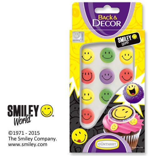Günthart Back & Decor Bunte Smileys aus Zucker (Gut Dekoriert Kuchen)