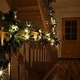 LED Tannengirlande mit Lichterkette beleuchtet 20 Meter