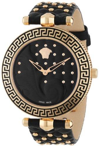 Versace Damen-Armbanduhr VANITAS Analog Quarz Leder VK7030013