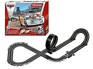 Carrera Go - 20062301 - Radio Commande, Véhicule Miniature et Circuit - Disney/Pixcar Car - Silver Races