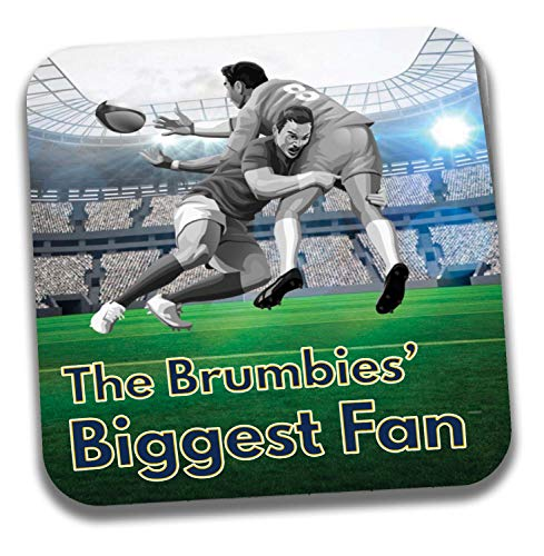 The Brumbies Biggest Fan Rugby Untersetzer - Geburtstagsgeschenk/Strumpffüller