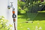 GARDENA Wassermengenzähler: Praktischer Wasserzähler zur Anbringung am Wasserhahn oder Verbrauchsgerät, zur Kontrolle des Wasserverbrauchs, mit übersichtlichem Display, batteriebetrieben (8188-20)