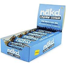 Nakd Barre Cookie & Noix de cajou - sans gluten, sans lactose, Crue certifié Paléo, Vegan   18 barres énergétiques   Nakd