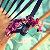 The bride beach manually rattan bridal ring headdress and spend beachside resort , marriage was adorned with antique Mauve