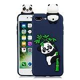HUDDU Compatible for Handyhülle Samsung Galaxy S7 Edge Weihnachten Motiv Panda Silikon Hülle Karikatur Muster Handyschale Weiche TPU Tasche Case Cover Ultra Dünn Schutzhülle - Pink