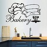Mur créatif Boulangerie Stickers Muraux Vinyle Amovible Décor À La Maison Chef...